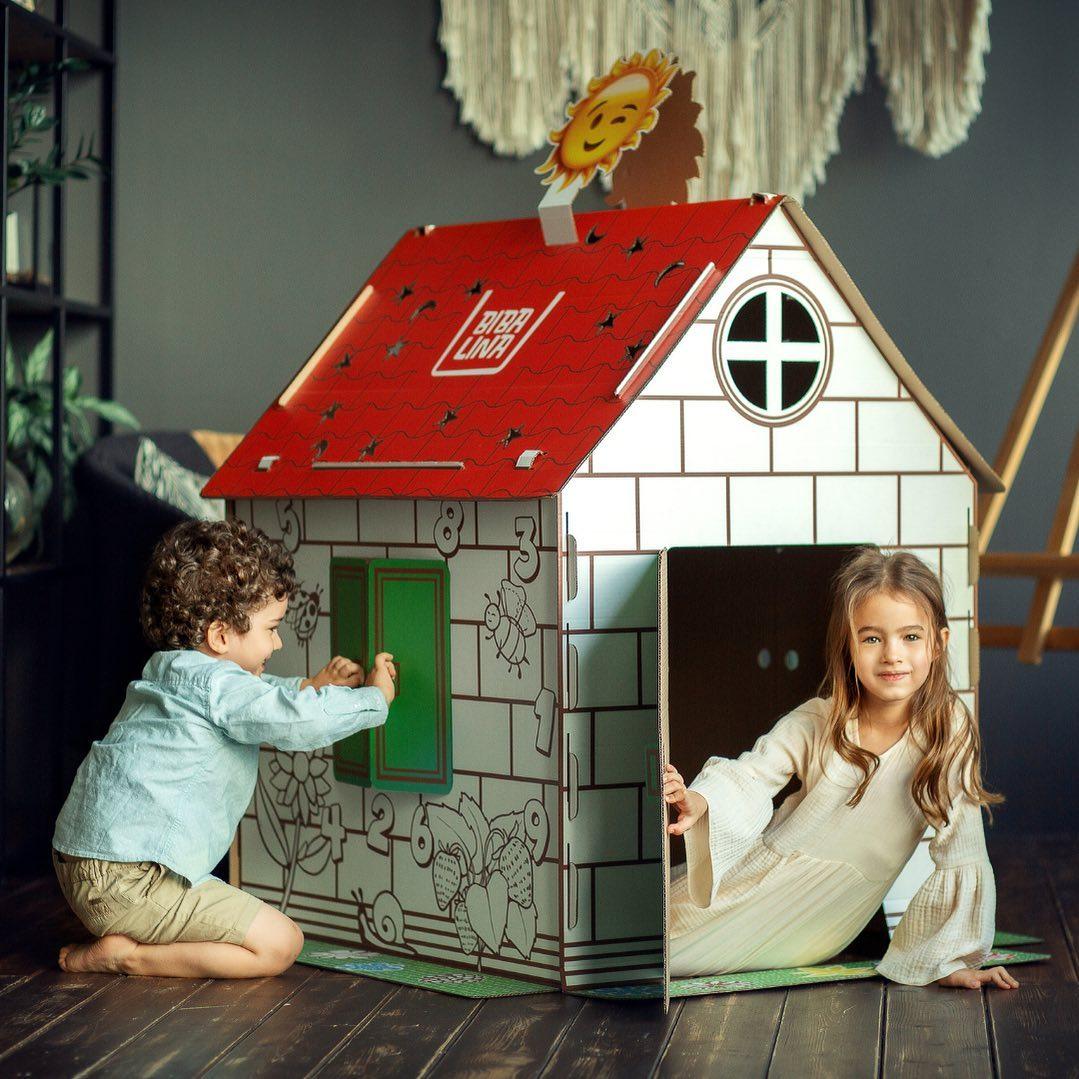 Coloring Cardboard Playhause